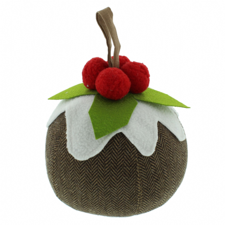 Christmas Pudding Doorstop ~ Xmas Home Decoration Fun Gift